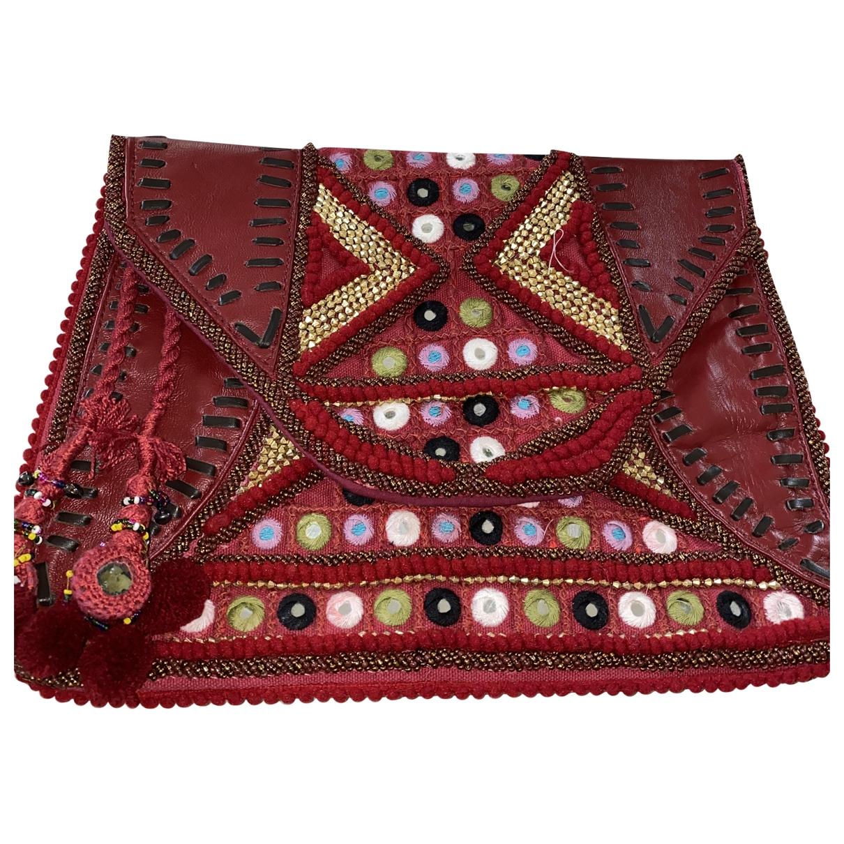 Antik Batik \N Burgundy Leather Clutch bag for Women \N