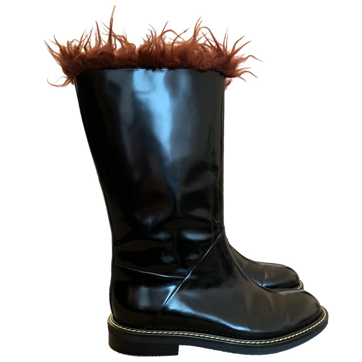 Marni \N Stiefel in  Schwarz Leder