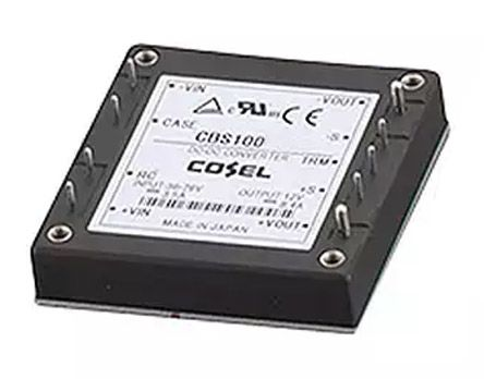 Cosel 100W Isolated DC-DC Converter Through Hole, Voltage in 18 → 36 V dc, Voltage out 5V dc
