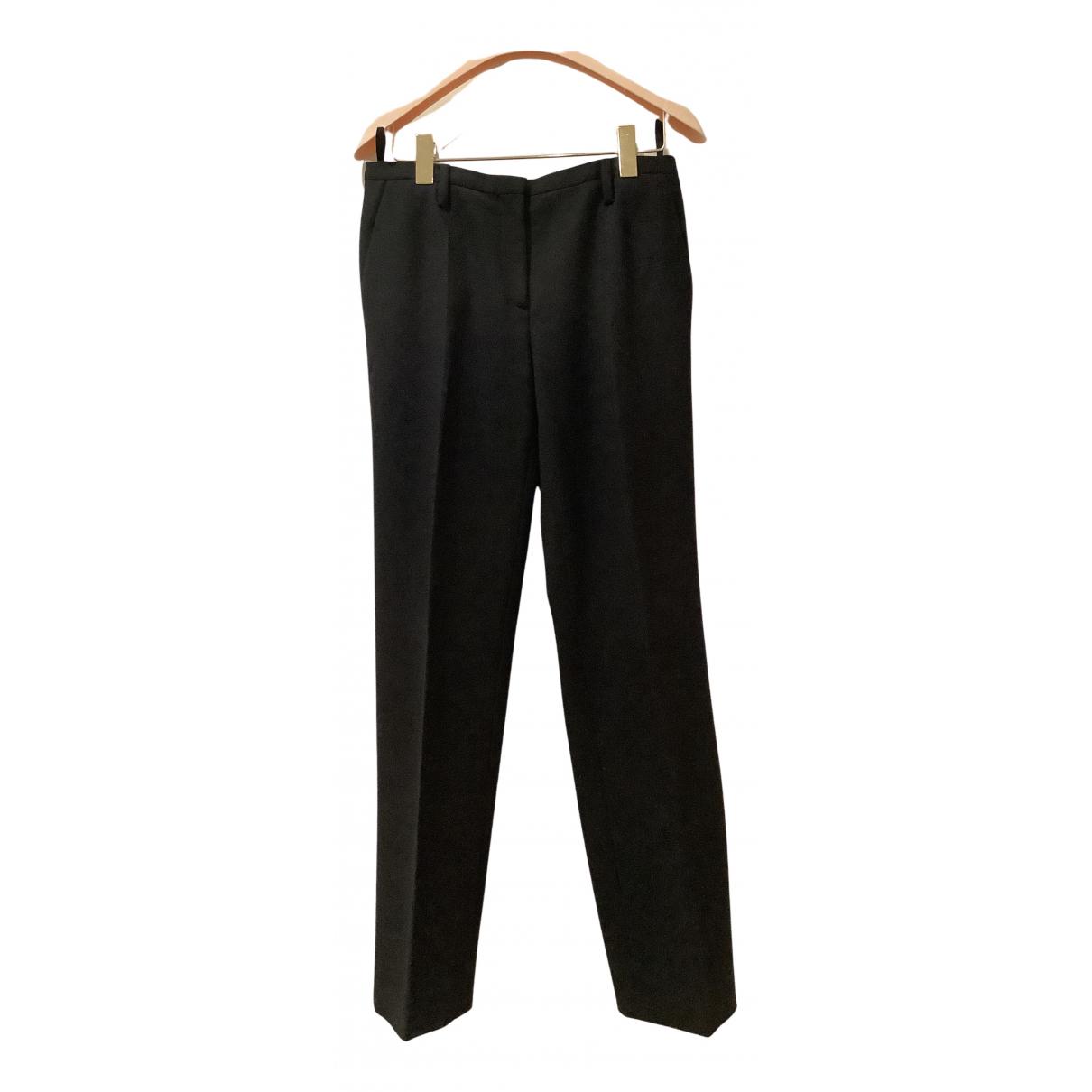 Prada N Black Wool Trousers for Women 40 IT