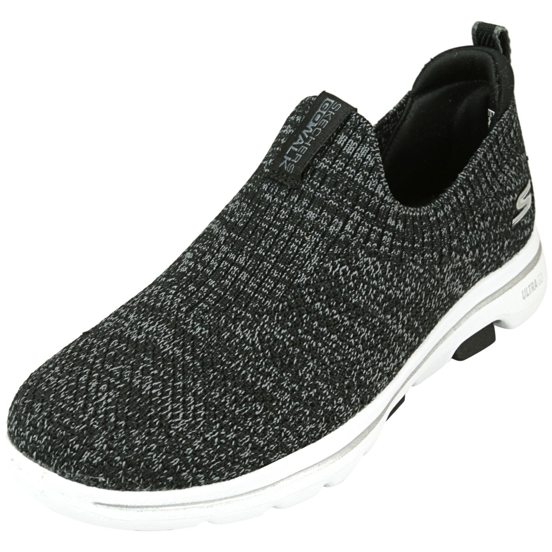 Skechers Women's Go Walk 5 - Trendy Black / Gray Ankle-High Walking 5M