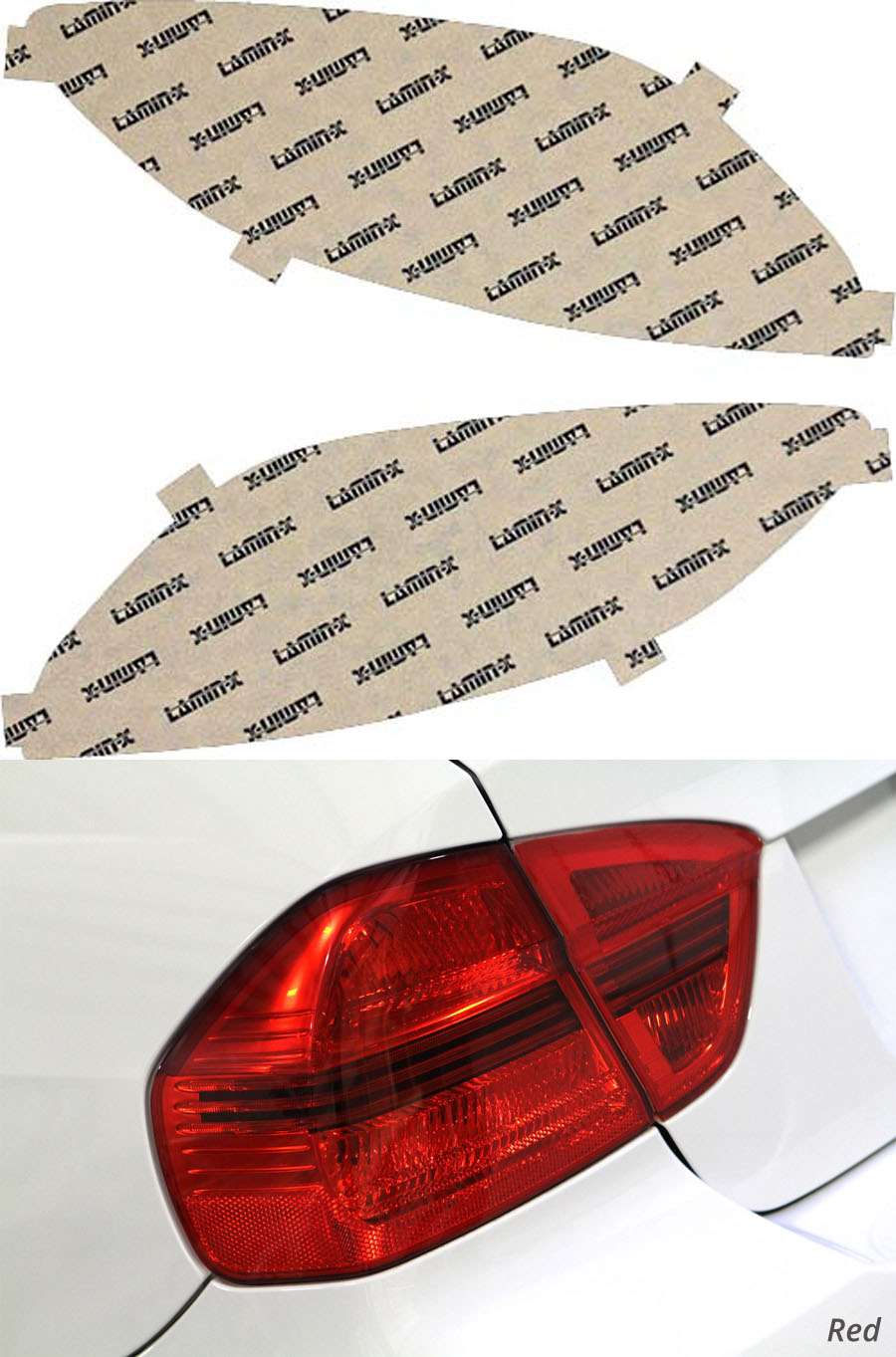 Mazda 2 11-15 Red Tail Light Covers Lamin-X M222R