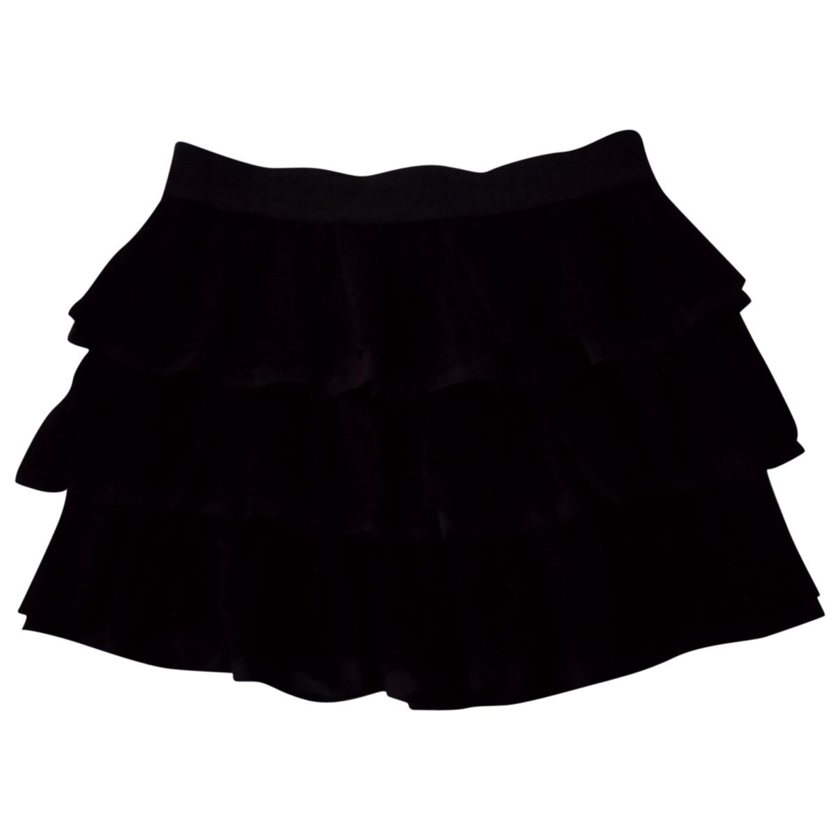 Sandro - Jupe   pour femme en soie - noir