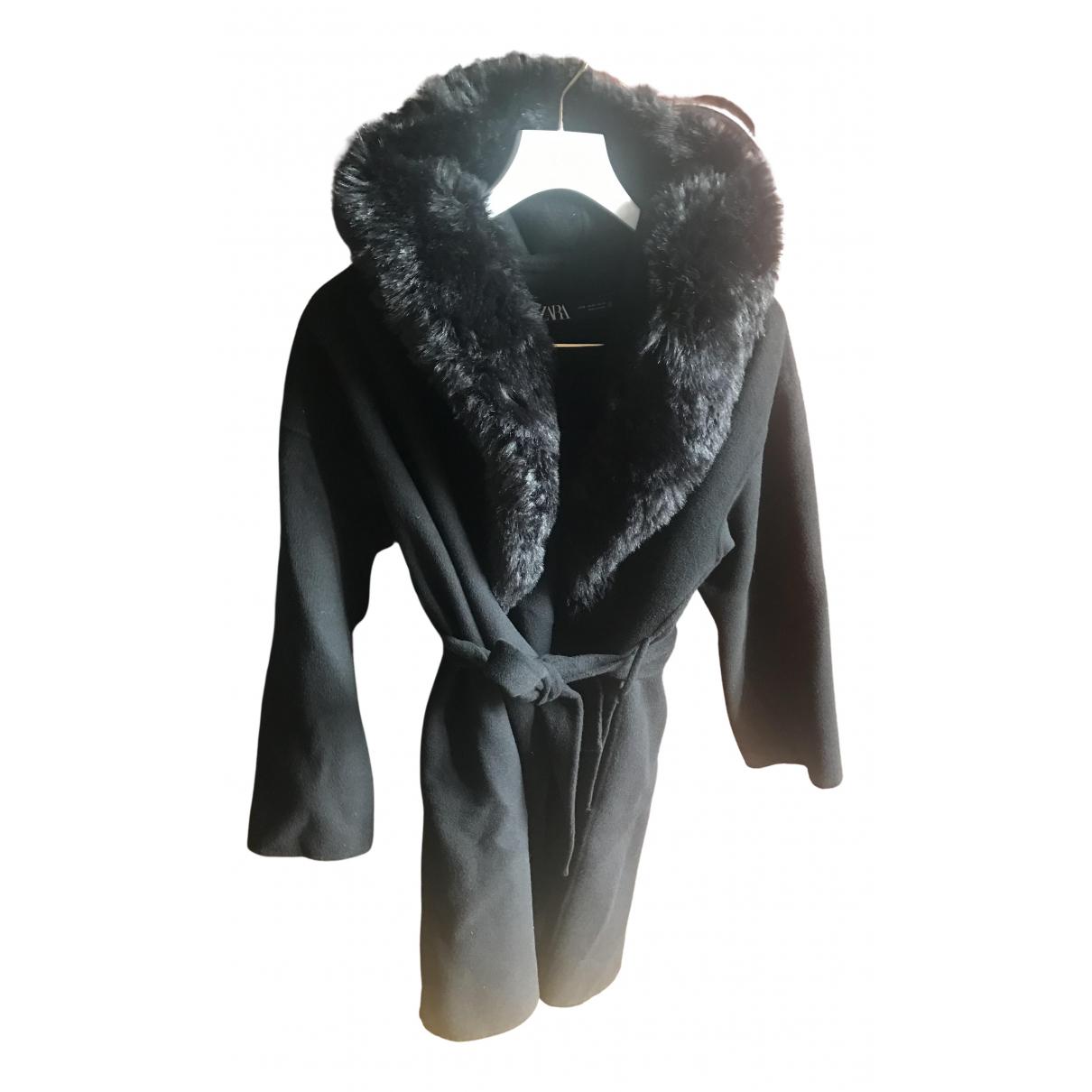 Zara \N Handtasche in  Schwarz Wolle