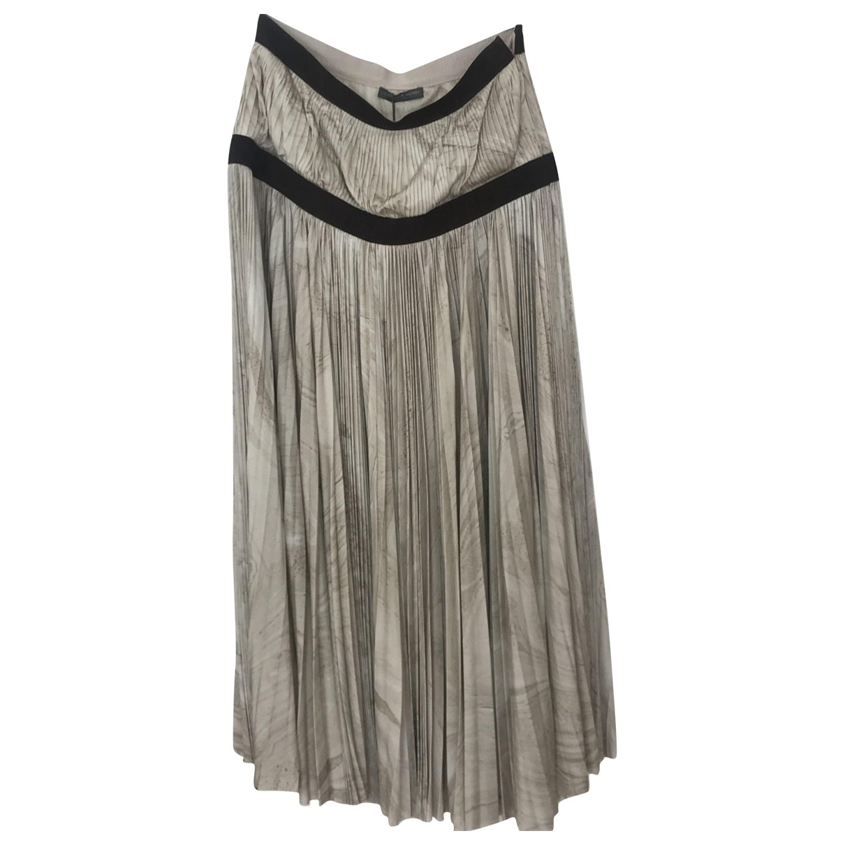 Alexander Mcqueen \N Beige Silk skirt for Women 42 IT