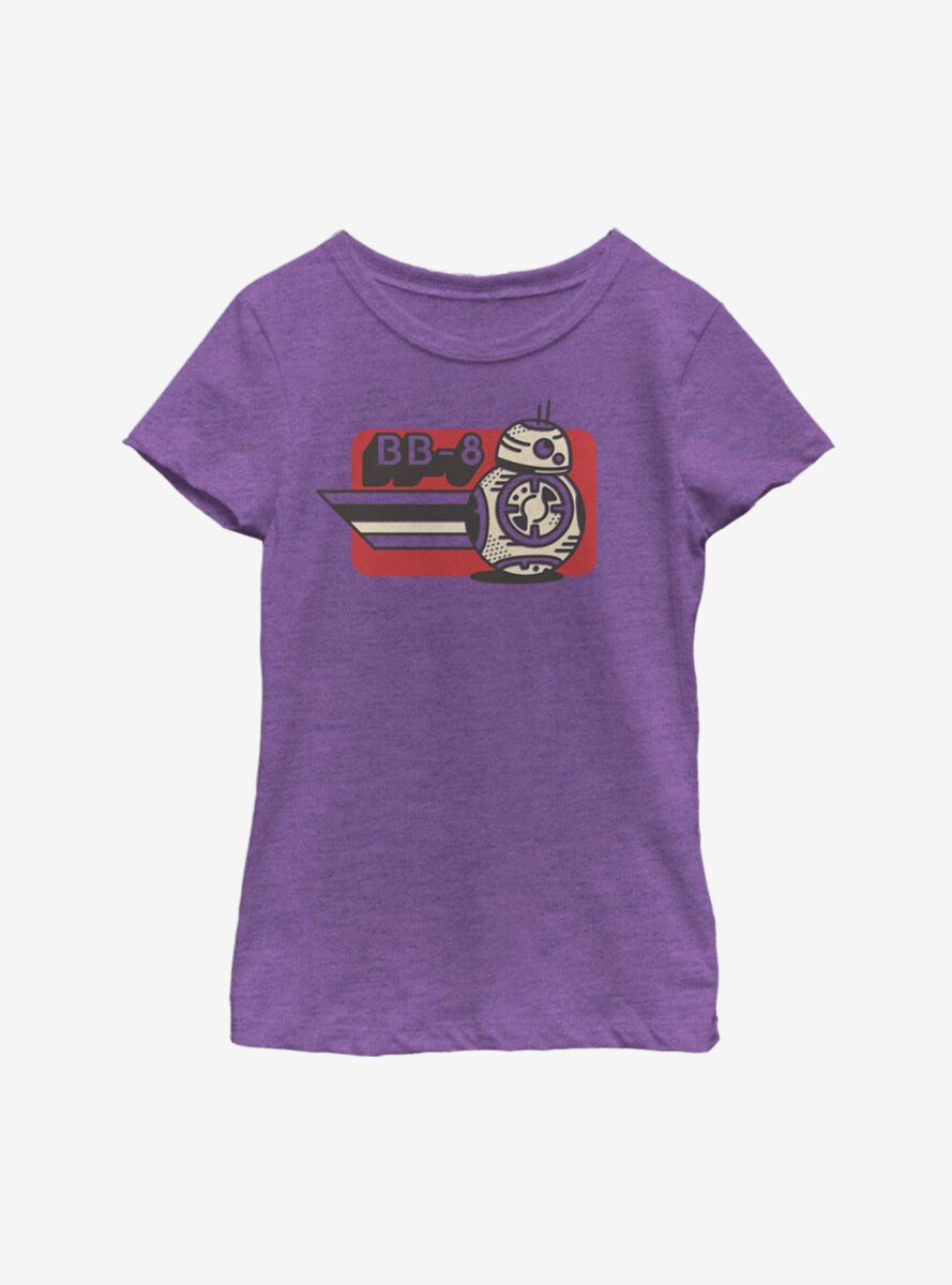 Star Wars Episode IX The Rise Of Skywalker Vintage BB-8 Youth Girls T-Shirt