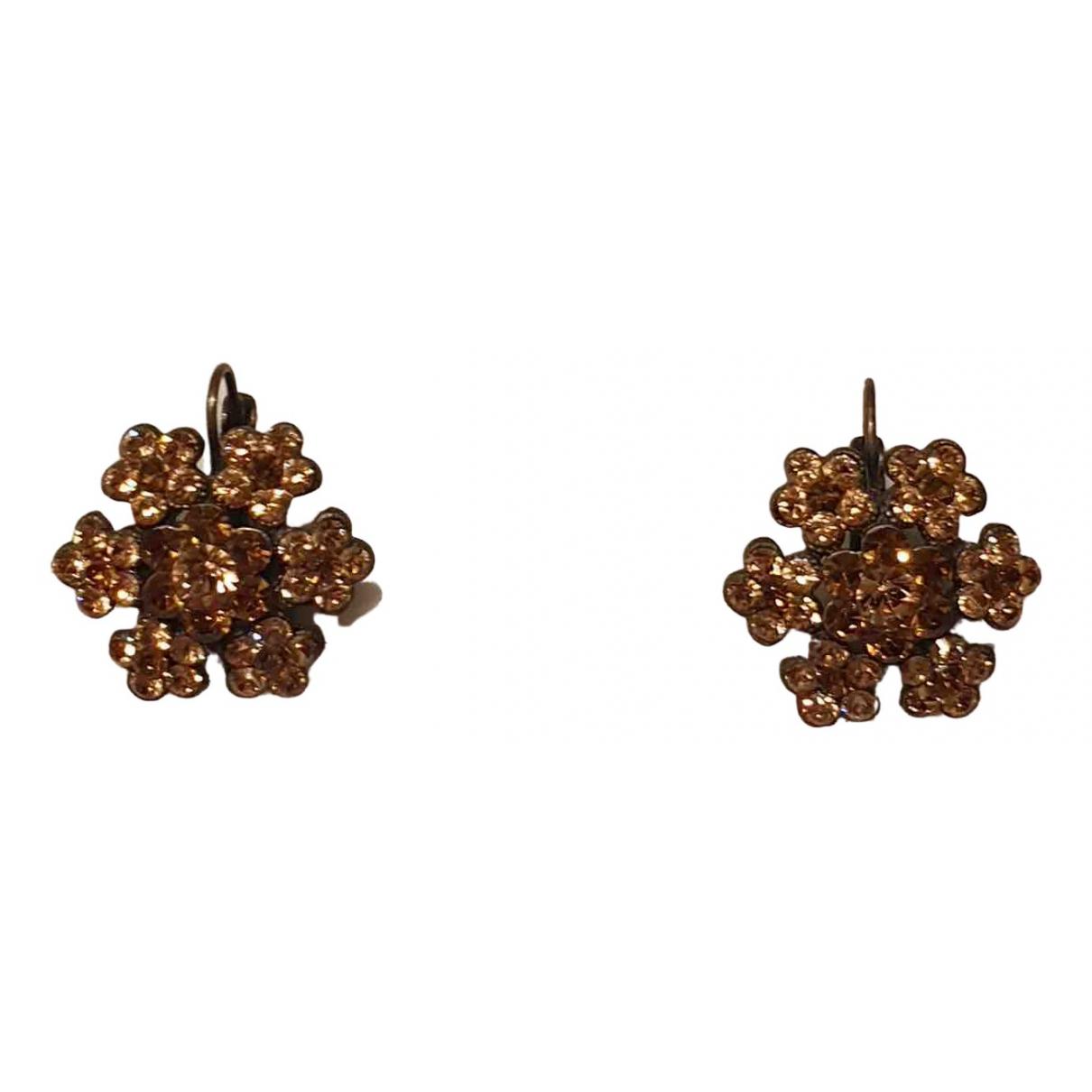 - Boucles doreilles Motifs Floraux pour femme en acier