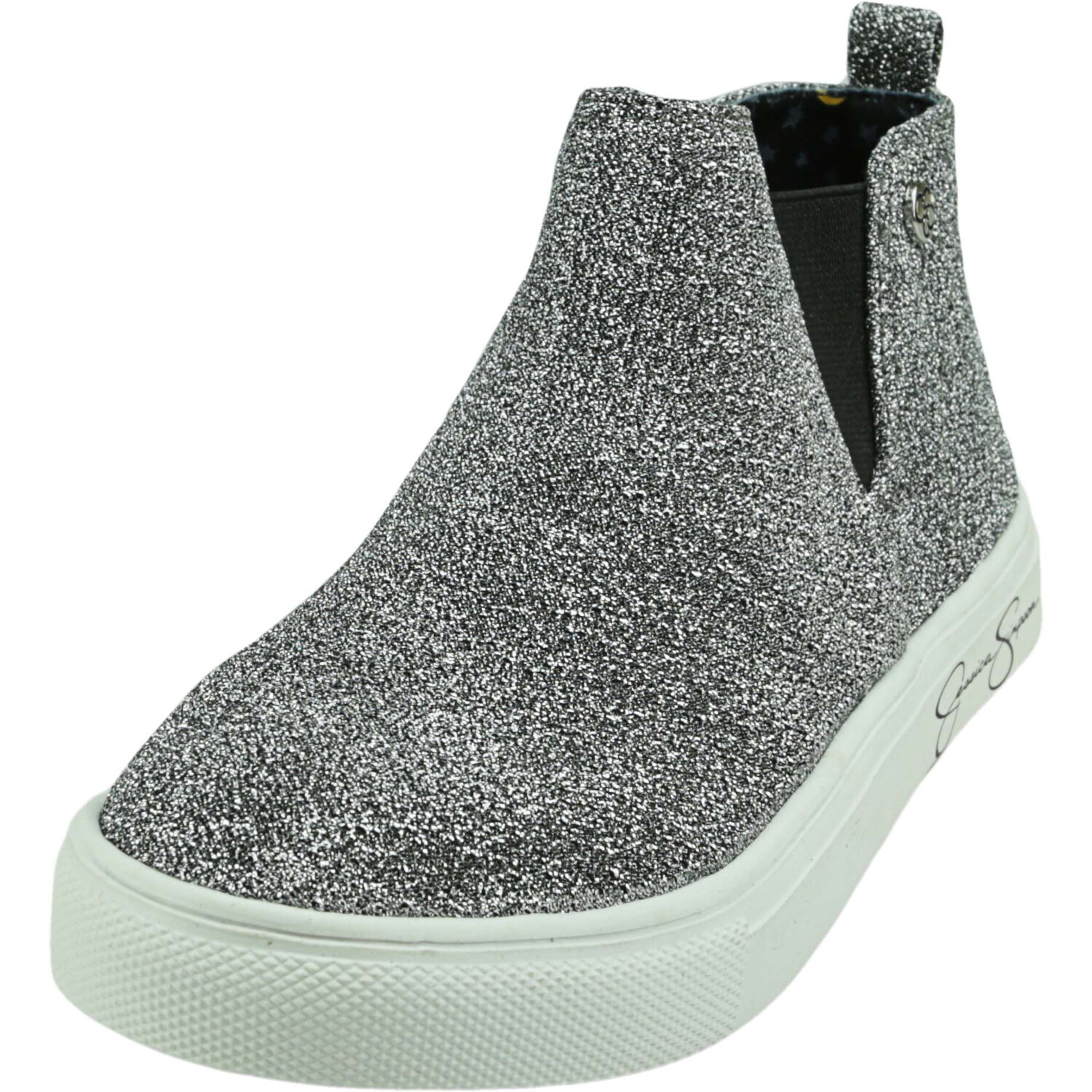 Jessica Simpson Girl's Falco Pewter Mid-Top Sneaker - 2M