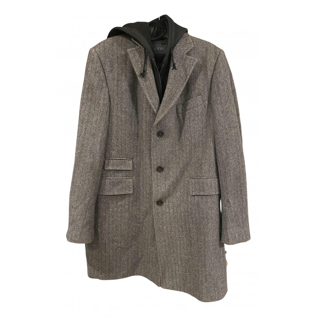 - Manteau   pour homme en laine - gris