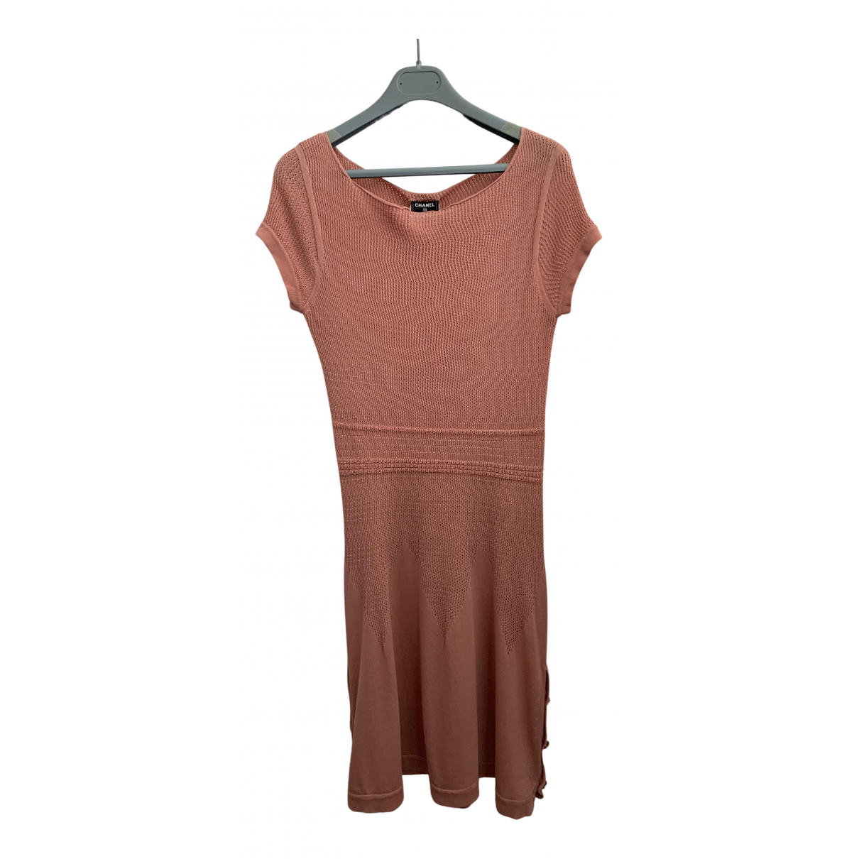 Chanel - Robe   pour femme en coton - rose