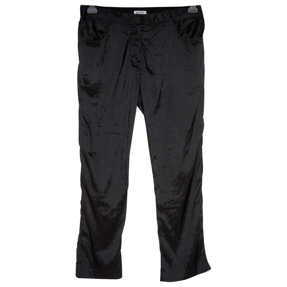 Acne Studios \N Black Trousers for Women 36 FR