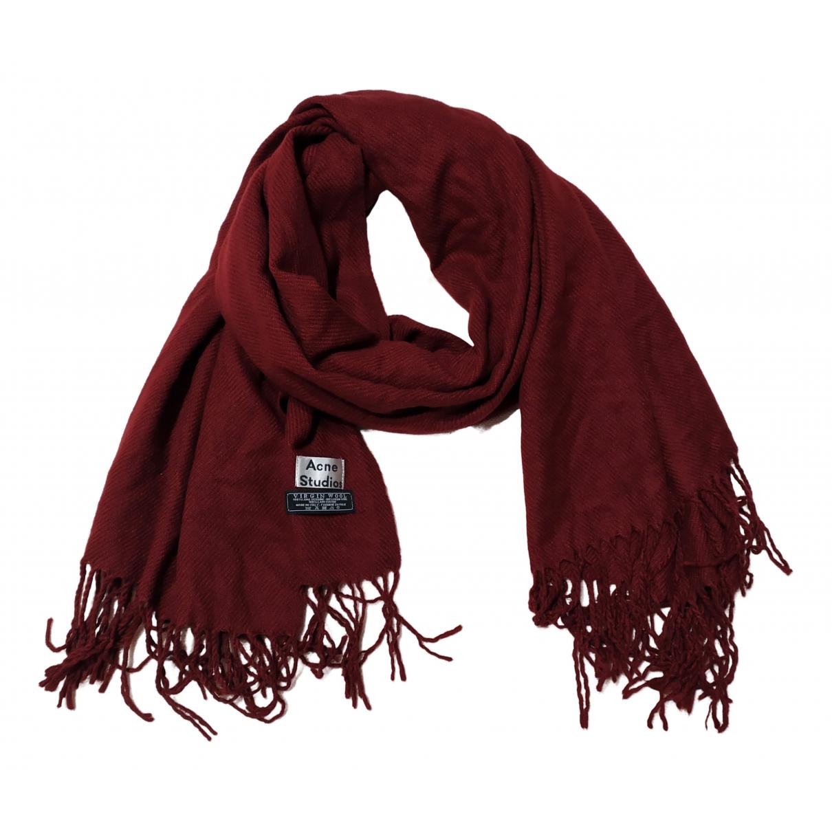 Acne Studios - Foulard   pour femme en laine - bordeaux