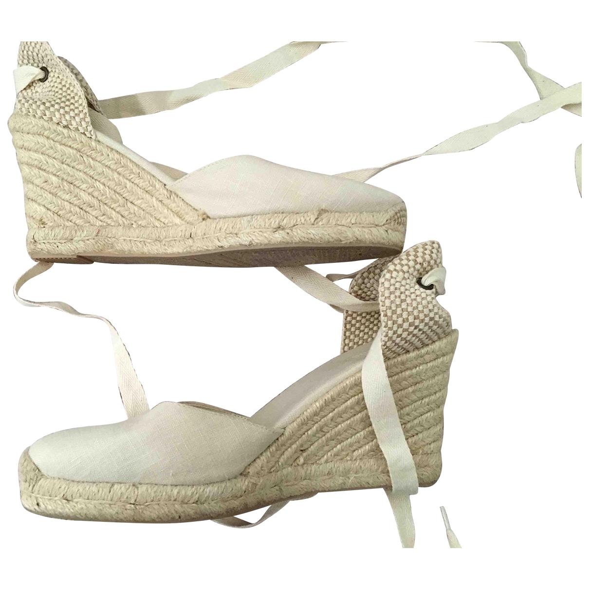 Soludos - Espadrilles   pour femme en toile - blanc
