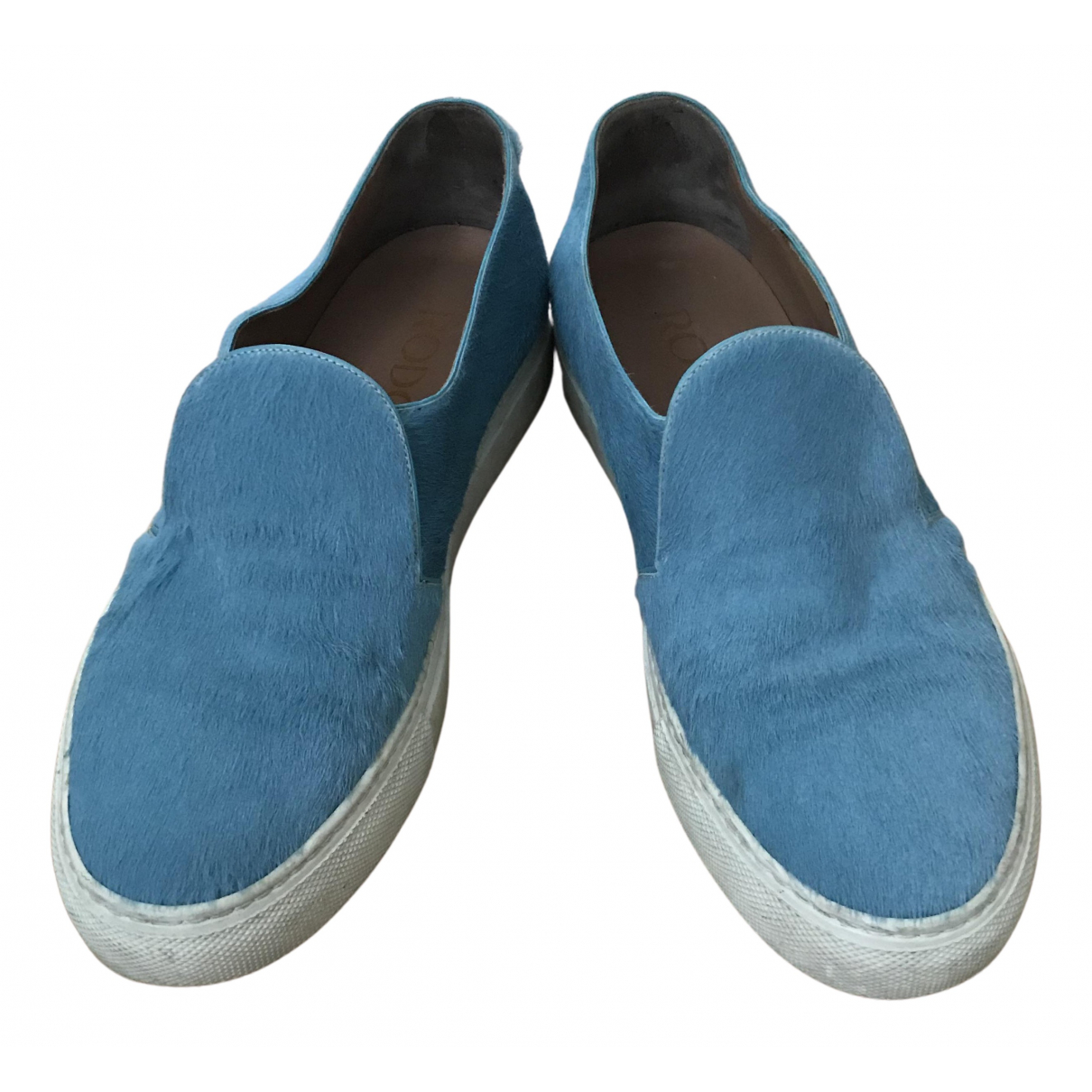 Rodo N Turquoise Leather Trainers for Women 37 EU