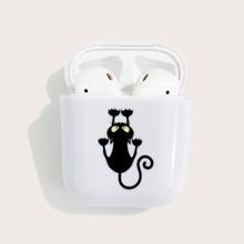 Halloween Cat Pattern Airpods Case