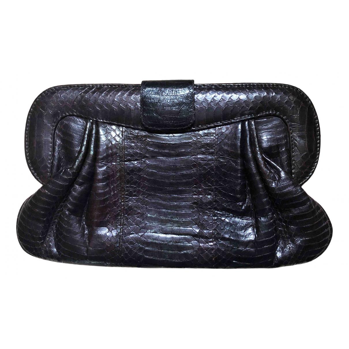 Angel Jackson \N Brown Python Clutch bag for Women \N
