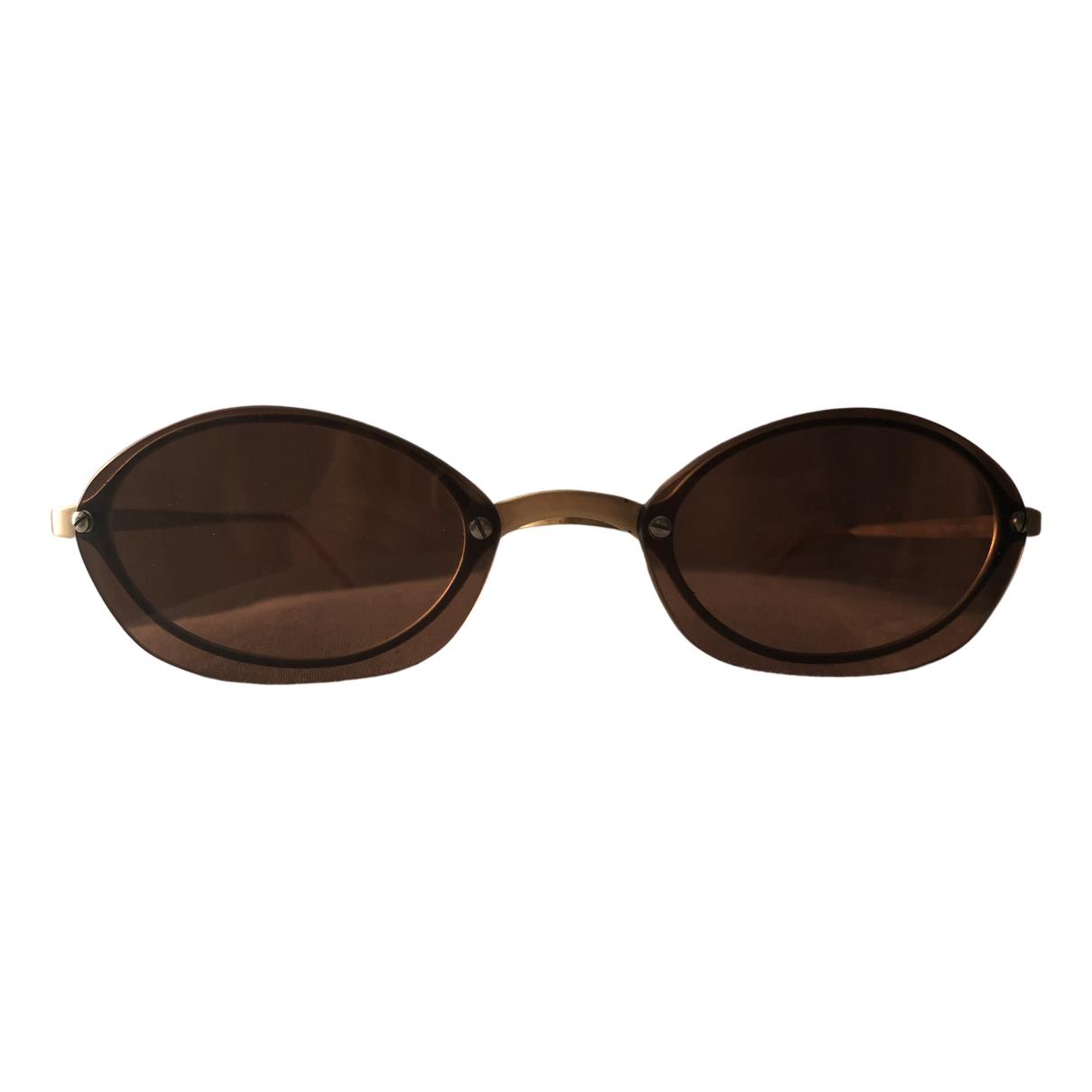 Emporio Armani \N Sonnenbrillen in  Braun Metall