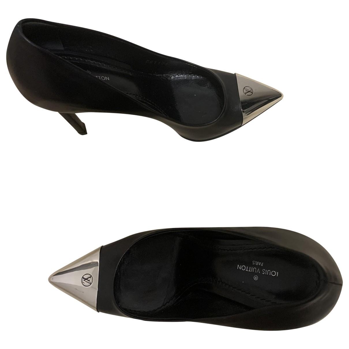 Louis Vuitton \N Black Leather Heels for Women 36.5 EU