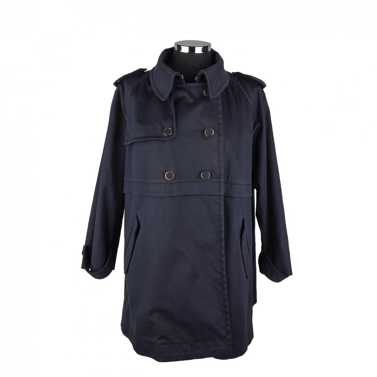 Miu Miu \N Blue Cotton coat for Women 42 IT