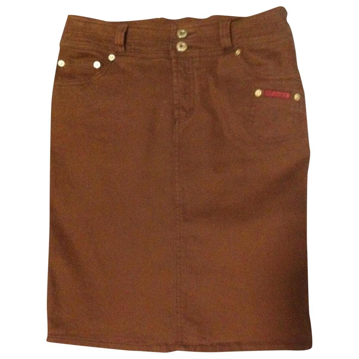 D&g \N Brown Cotton skirt for Women 40 IT