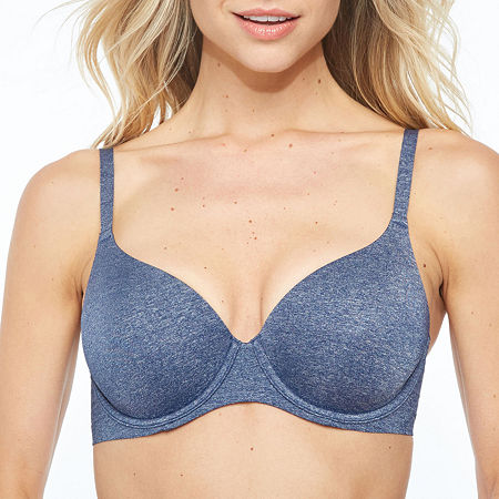 Ambrielle Everyday Underwire T-Shirt Full Coverage Bra-91350, D , Pink