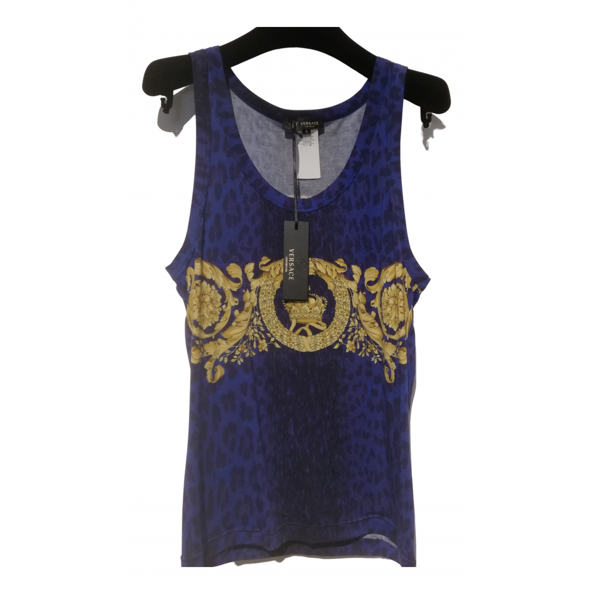 Versace N Blue Cotton T-shirts for Men M International