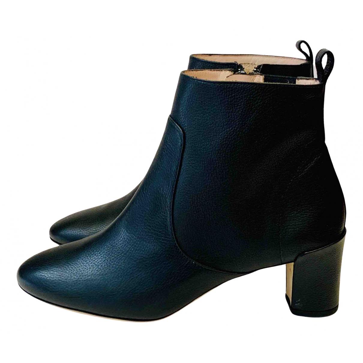 Repetto - Boots   pour femme en cuir - noir