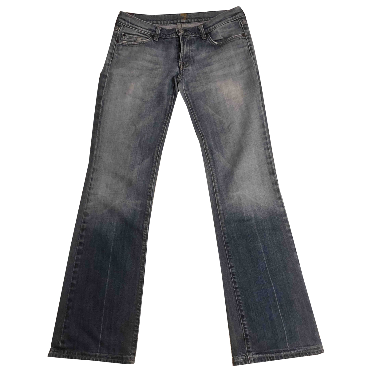 7 For All Mankind \N Blue Cotton - elasthane Jeans for Women 29 US