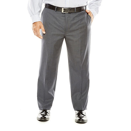 Collection by Michael Strahan Gray Weave Suit Pants - Big & Tall, 48 32, Gray
