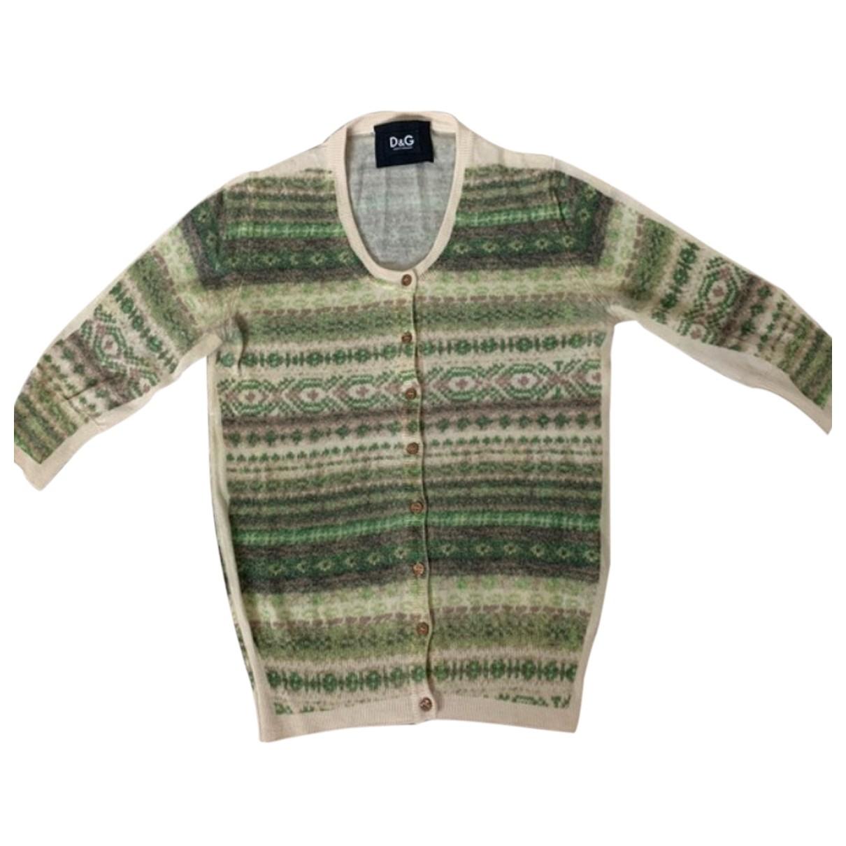 Dolce & Gabbana - Pull   pour femme en laine - vert