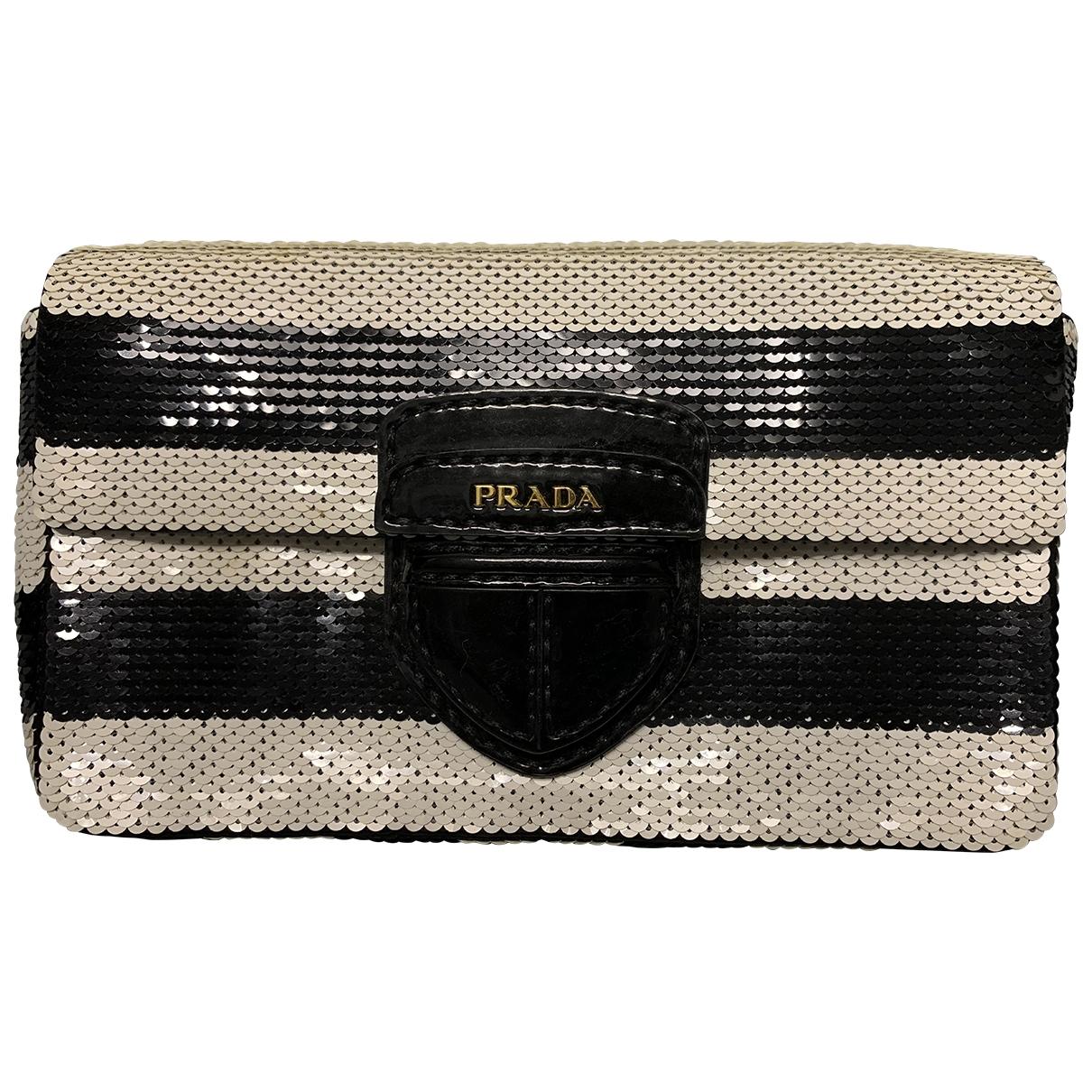 Prada \N Black Glitter Clutch bag for Women \N