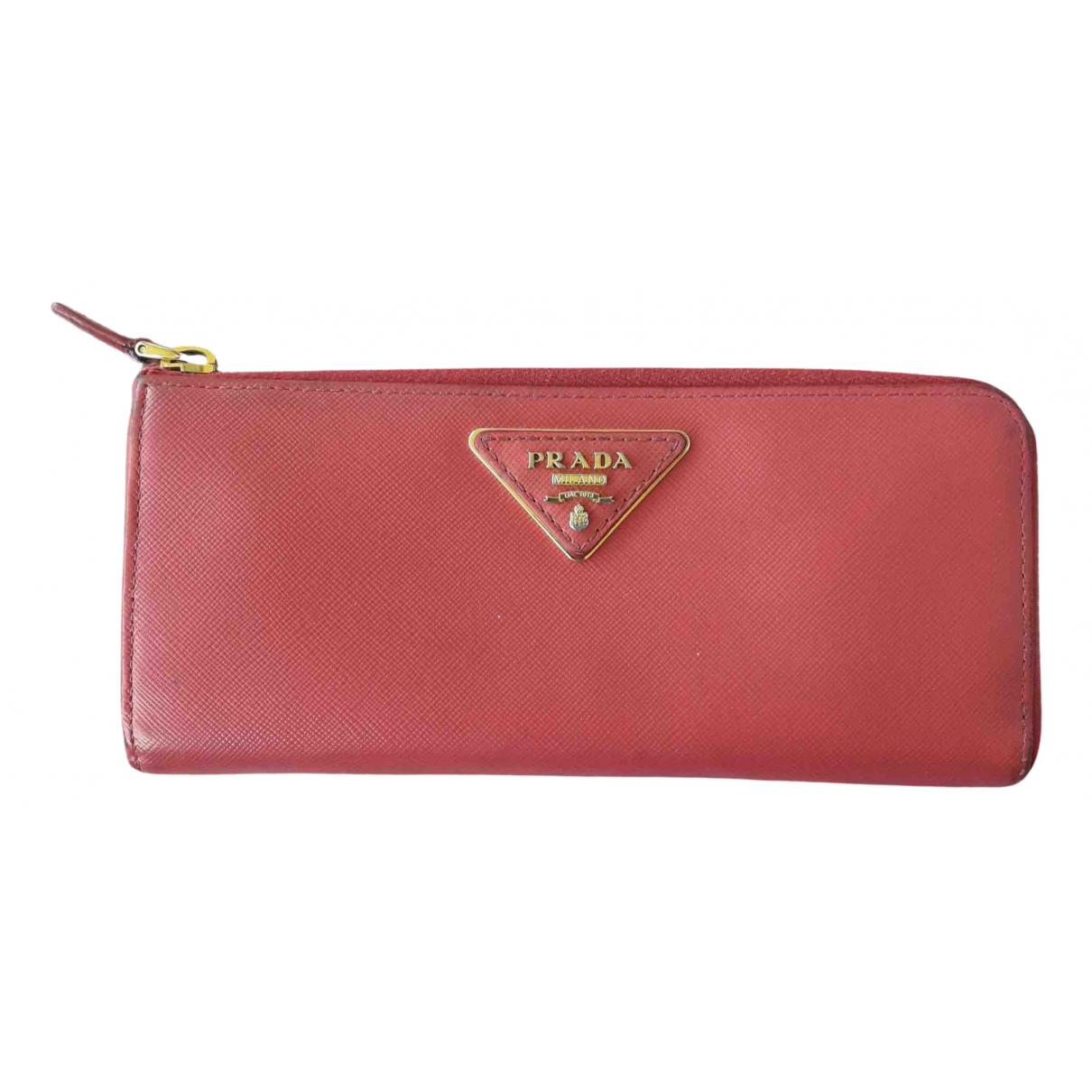 Prada - Pochette   pour femme en cuir - rose