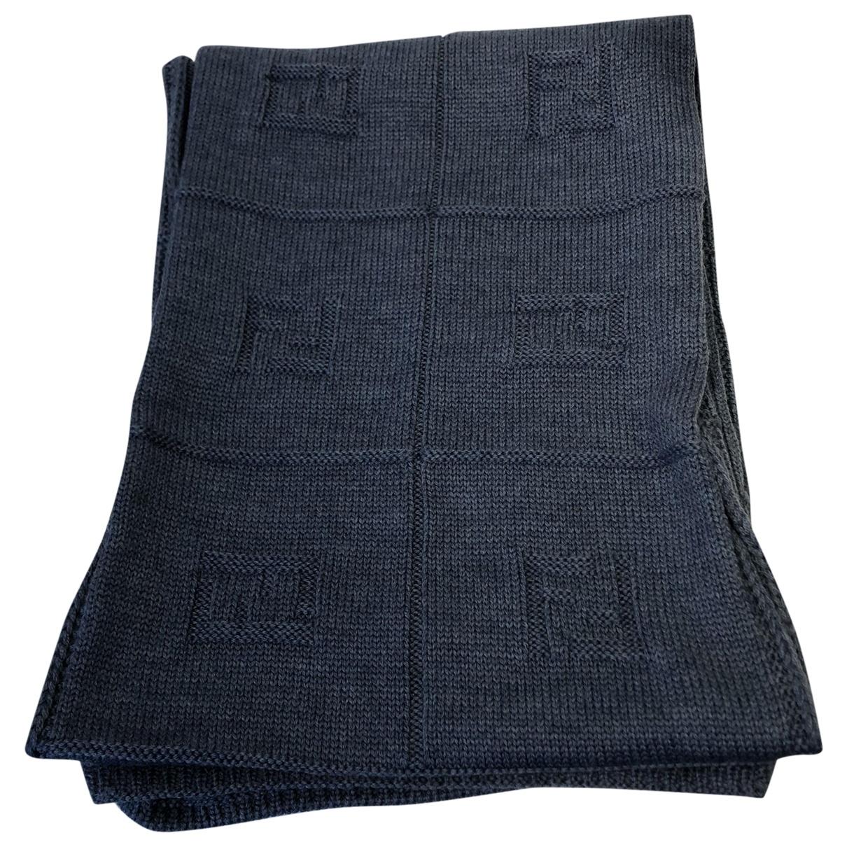 Fendi \N Schal in  Blau Wolle
