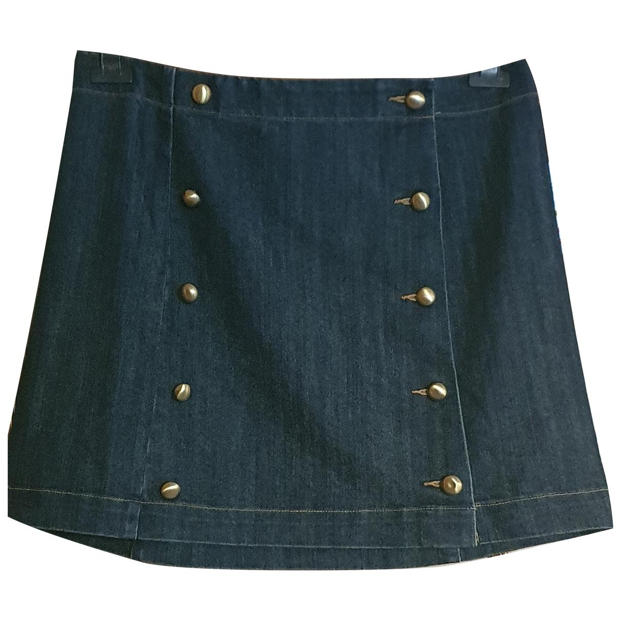 Michael Kors - Jupe   pour femme en coton - bleu