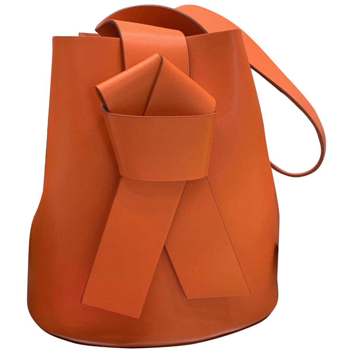 Acne Studios Musubi Orange Leather handbag for Women N