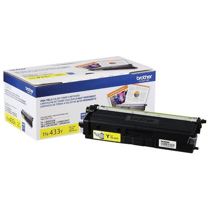 Brother TN433Y Original Yellow Toner Cartridge High Yield 4000 Pages