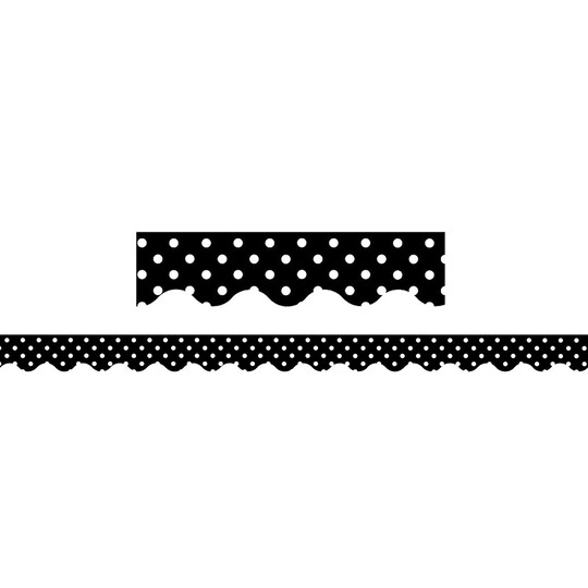 Teacher Created Resources Polka Dot Scalloped Borders, 420Ft in Black | 2.19 x 2.916ft | Michaels®