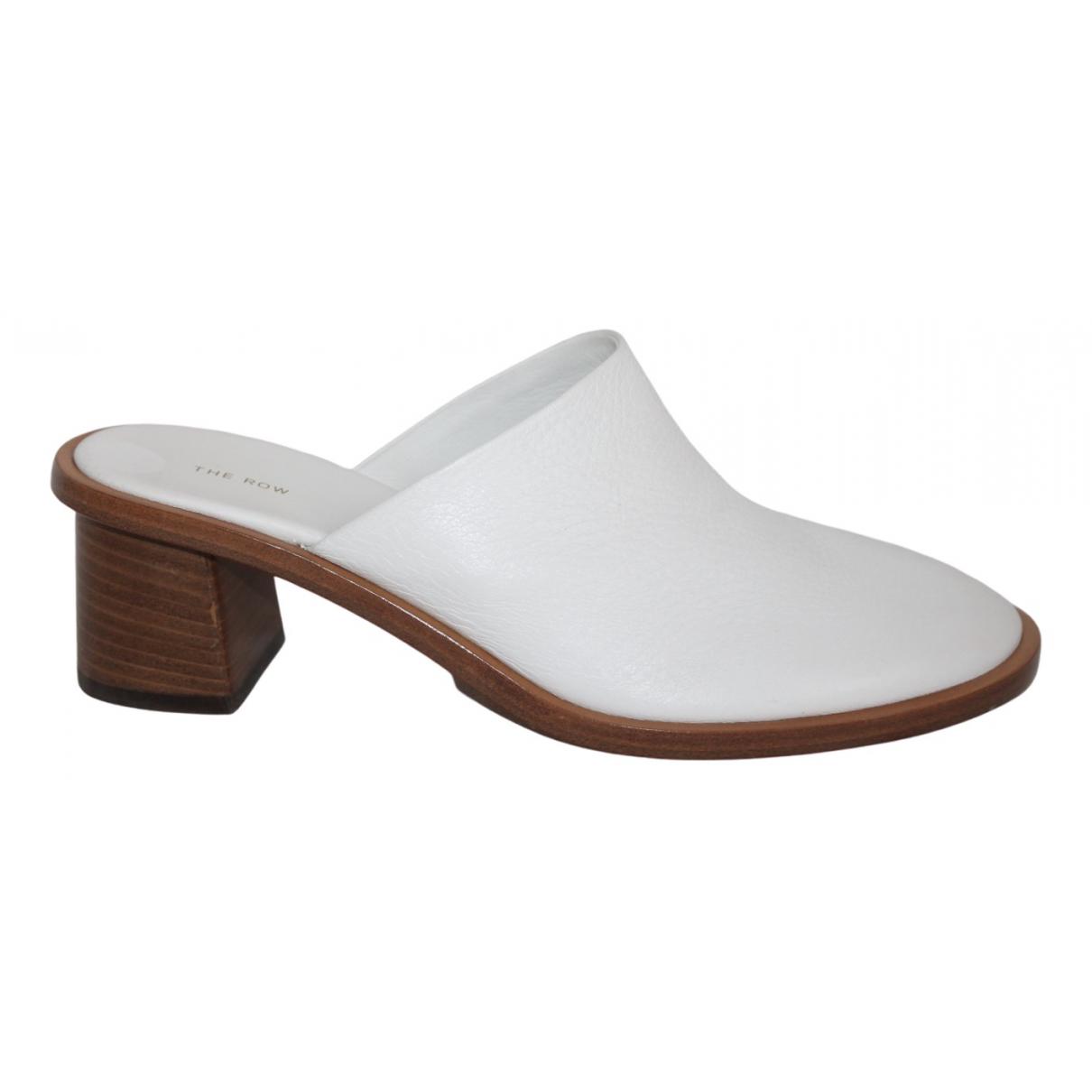 The Row - Sabots   pour femme en cuir - blanc