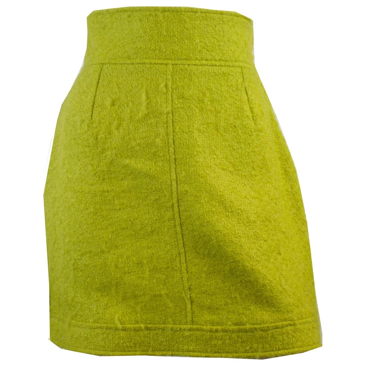 Claude Montana - Jupe   pour femme en laine - vert