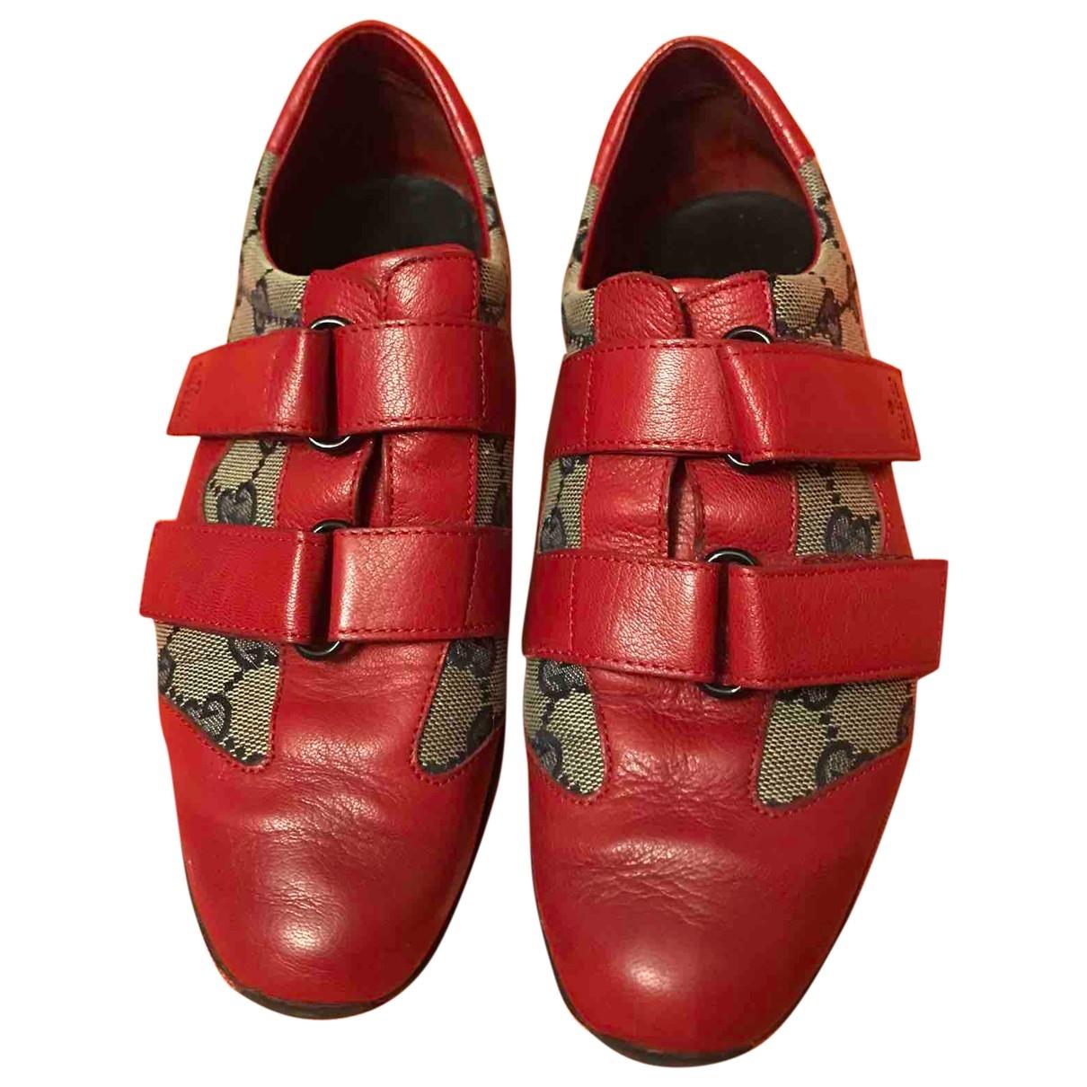 Gucci \N Sneakers in  Rot Leinen