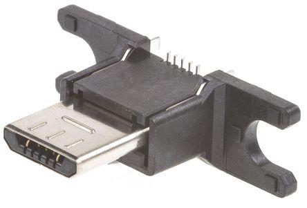 Hirose , ZX USB Connector, SMT, Plug 2.0 B, Solder, Straight (5)