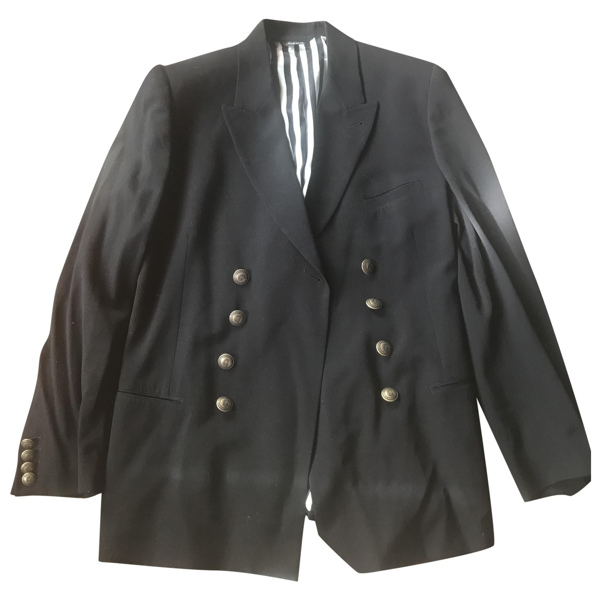 Jean Paul Gaultier \N Black Wool jacket  for Men 48 IT