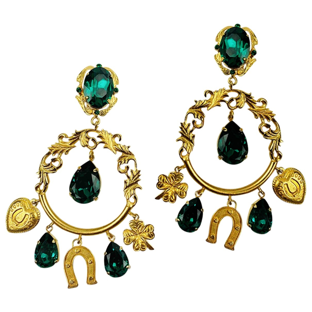 Dolce & Gabbana - Boucles doreilles   pour femme en cristal - dore