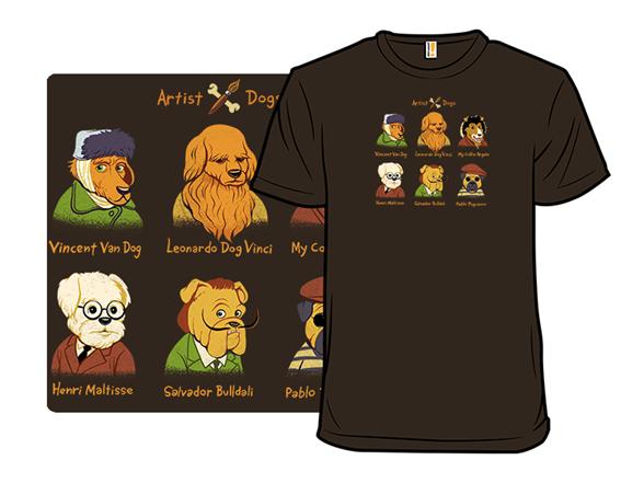 Artist Dogs T Shirt