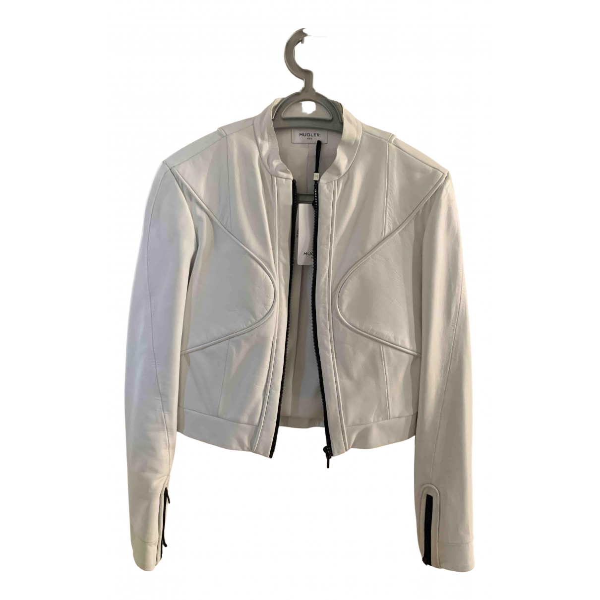 Thierry Mugler - Veste   pour femme en cuir - blanc