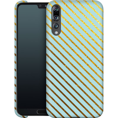 Huawei P20 Pro Smartphone Huelle - Gold Foil Stripe von Khristian Howell