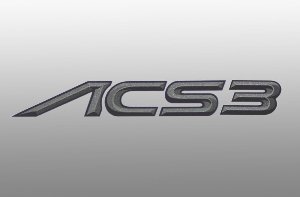 AC Schnitzer 511446110 Foil Silver Self Adhesive ACS3 Emblem