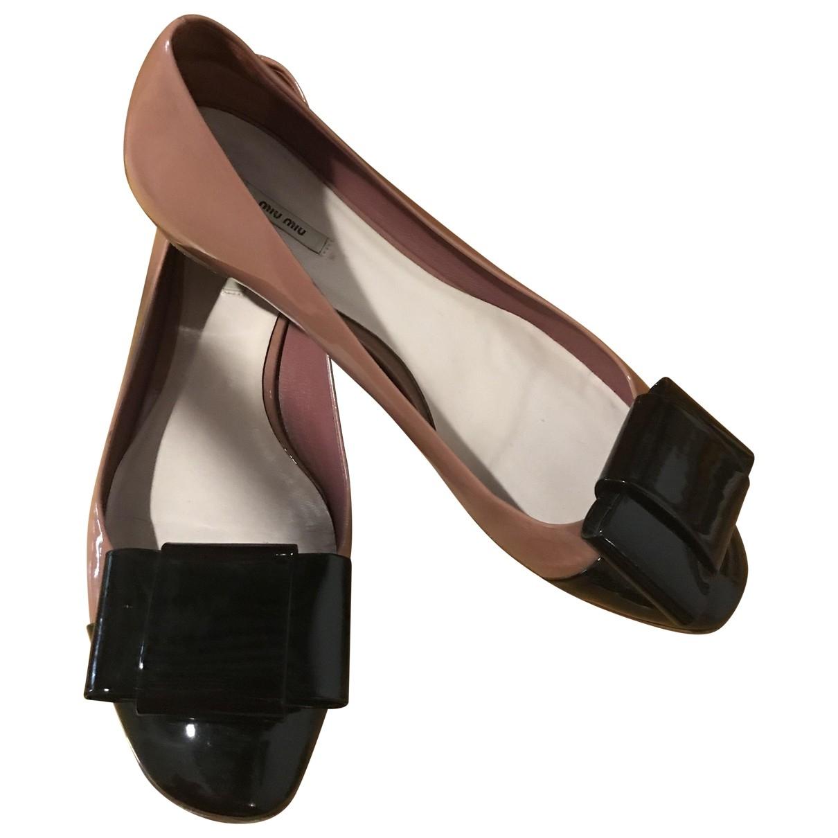 Miu Miu \N Pink Patent leather Ballet flats for Women 37 IT