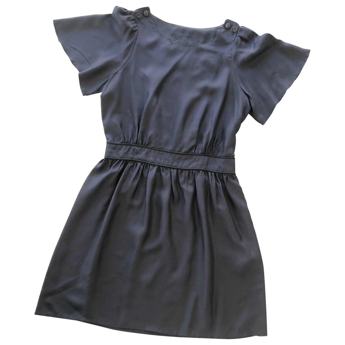 Sessun \N Kleid in  Blau Seide