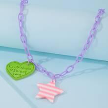 Halskette mit Stern & Herzen Anhaenger